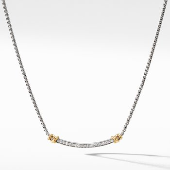 Petite Helena Station Necklace with 18K Yellow Gold and Diamonds