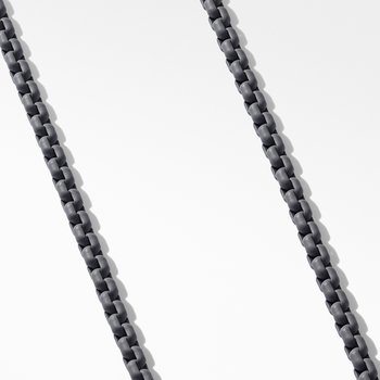 Box Chain Necklace in Grey