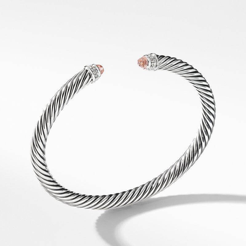 David Yurman Cable Classics Bracelet with Morganite and Diamonds,