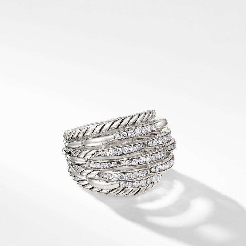 David Yurman Tides Dome Ring with Diamonds