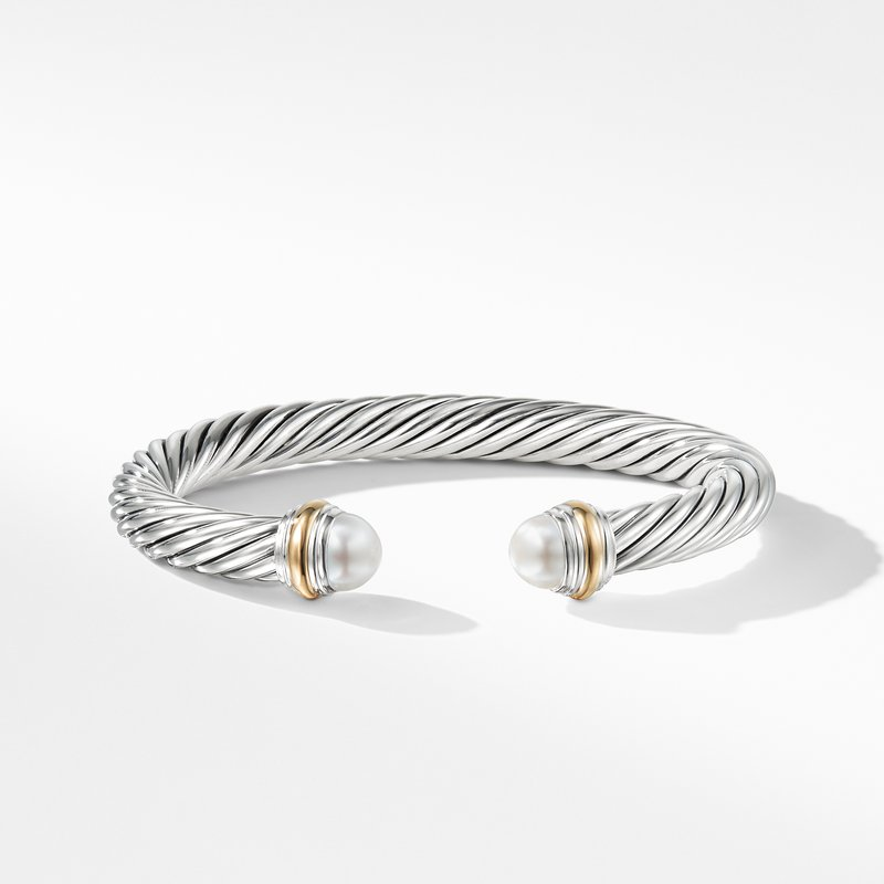 David Yurman Cable Classics Collection® Bracelet with Pearl and 14K Gold
