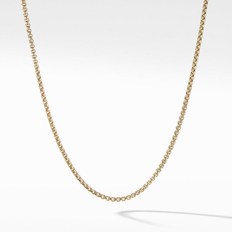 David Yurman Box Chain Necklace in 18K Gold, 1.7mm
