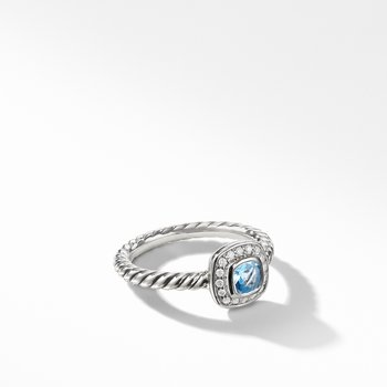 Albion® Kids Ring with Blue Topaz and Diamonds, 4mm