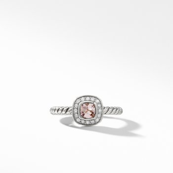 Albion® Kids Ring with Morganite and Diamonds, 4mm