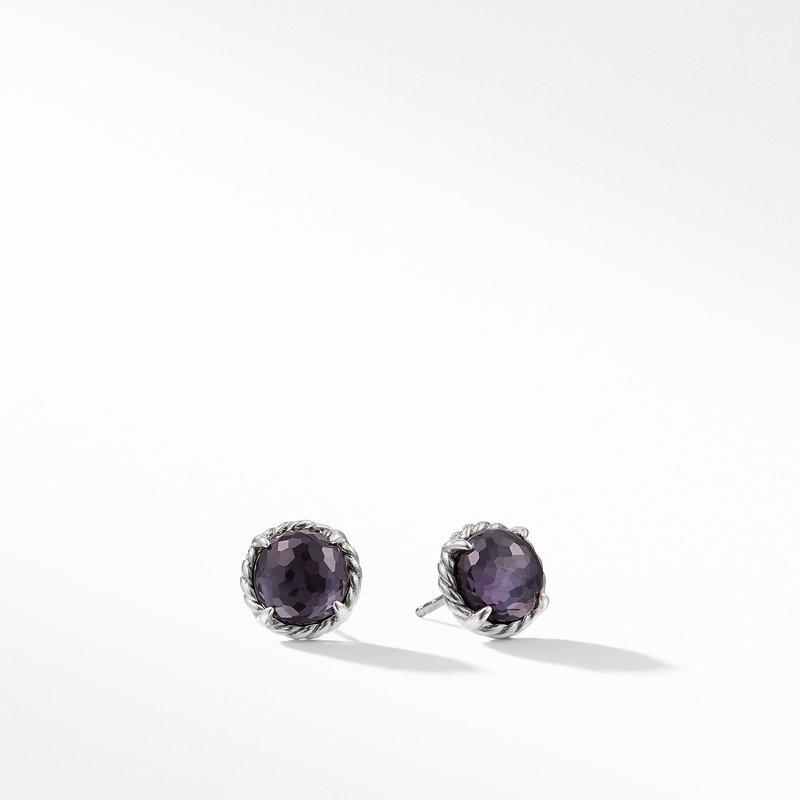 David Yurman Earrings with Black Orchid