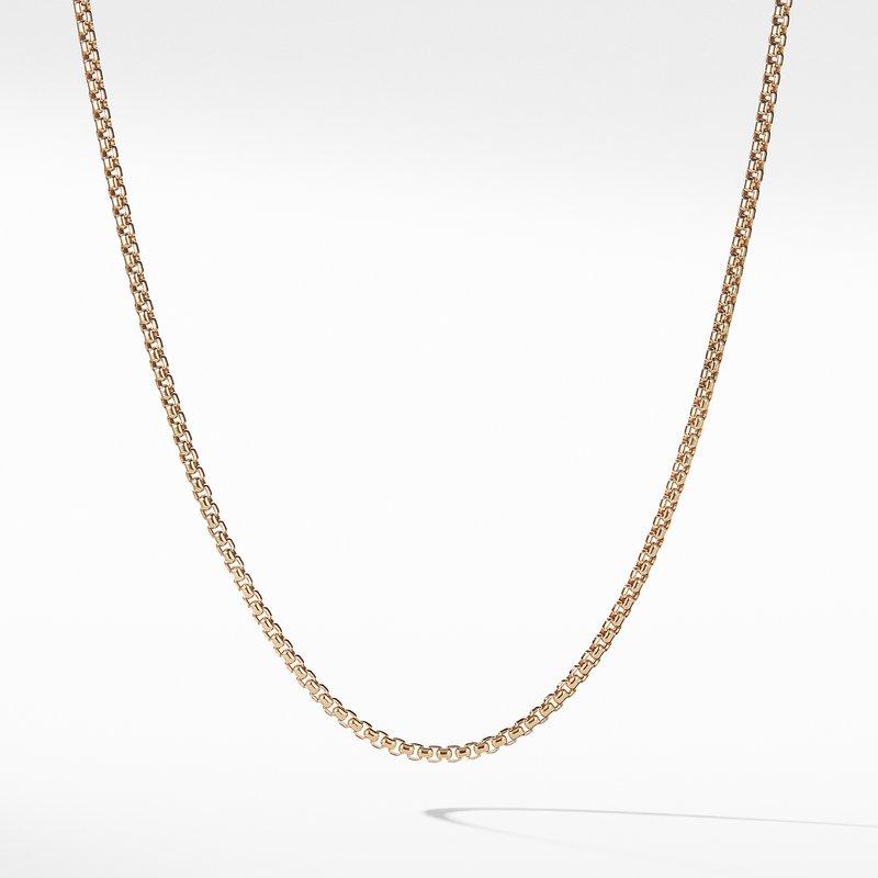 David Yurman Small Box Chain in Gold