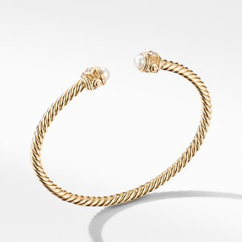 Renaissance Bracelet in 18K Yellow Gold with Pearls and Diamonds