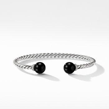 Solari Bracelet with Diamonds and Black Onyx