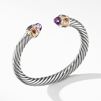Renaissance Bracelet with Amethyst and 14K Yellow Gold