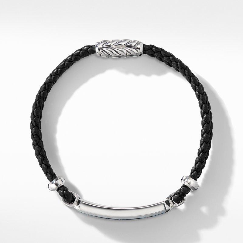 David Yurman Exotic Stone Bar Station Leather Bracelet with Pietersite