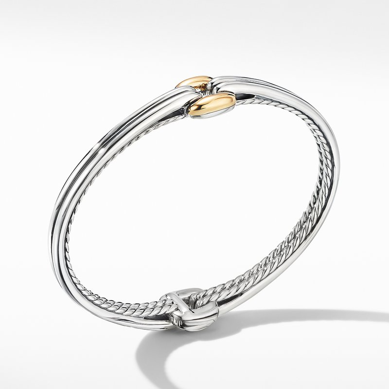 David Yurman Thoroughbred® Center Link Bracelet with 18K Yellow Gold