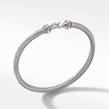 Cable Buckle Collection® Bracelet with 18K Rose Gold