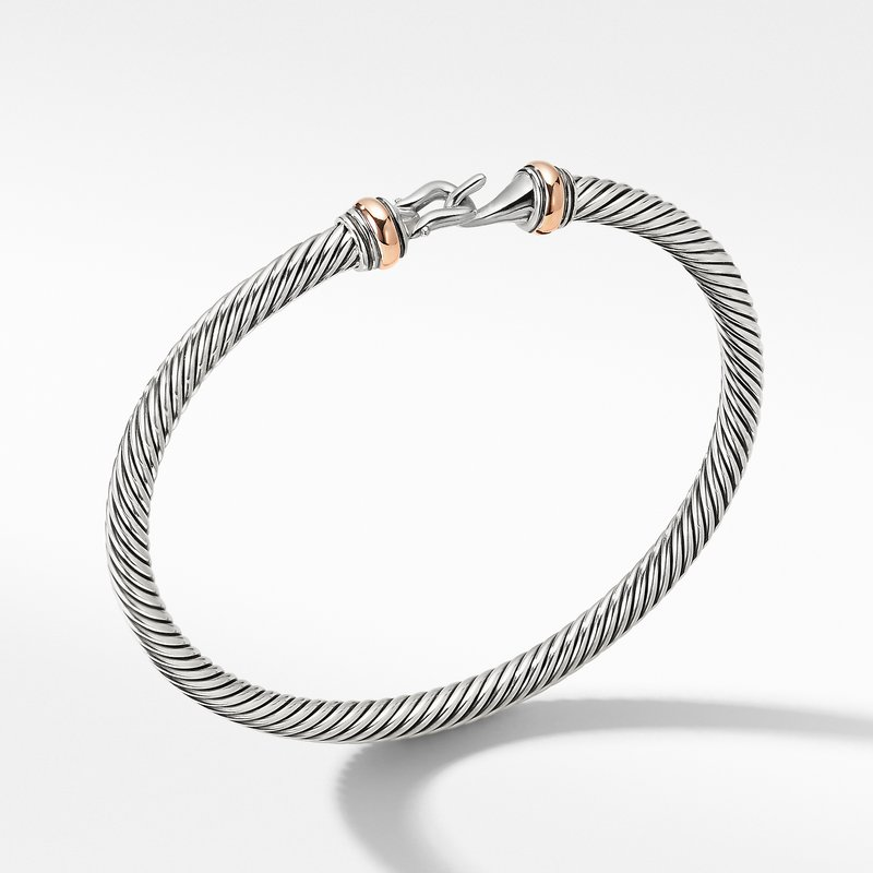 David Yurman Cable Buckle Collection® Bracelet with 18K Rose Gold