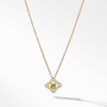 Necklace with Peridot and Diamonds in 18K Gold