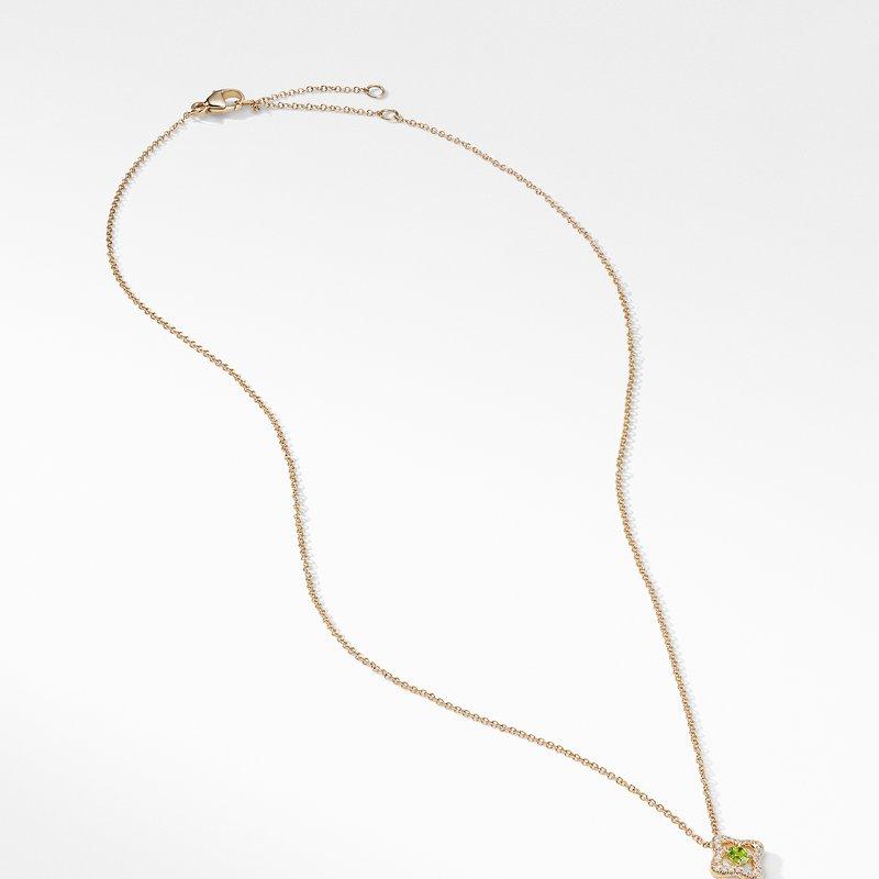 David Yurman Necklace with Peridot and Diamonds in 18K Gold