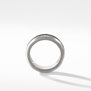 Streamline® Band Ring with Black Diamonds