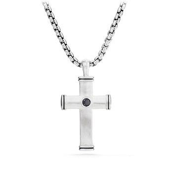 Streamline® Cross Tag with Black Diamonds