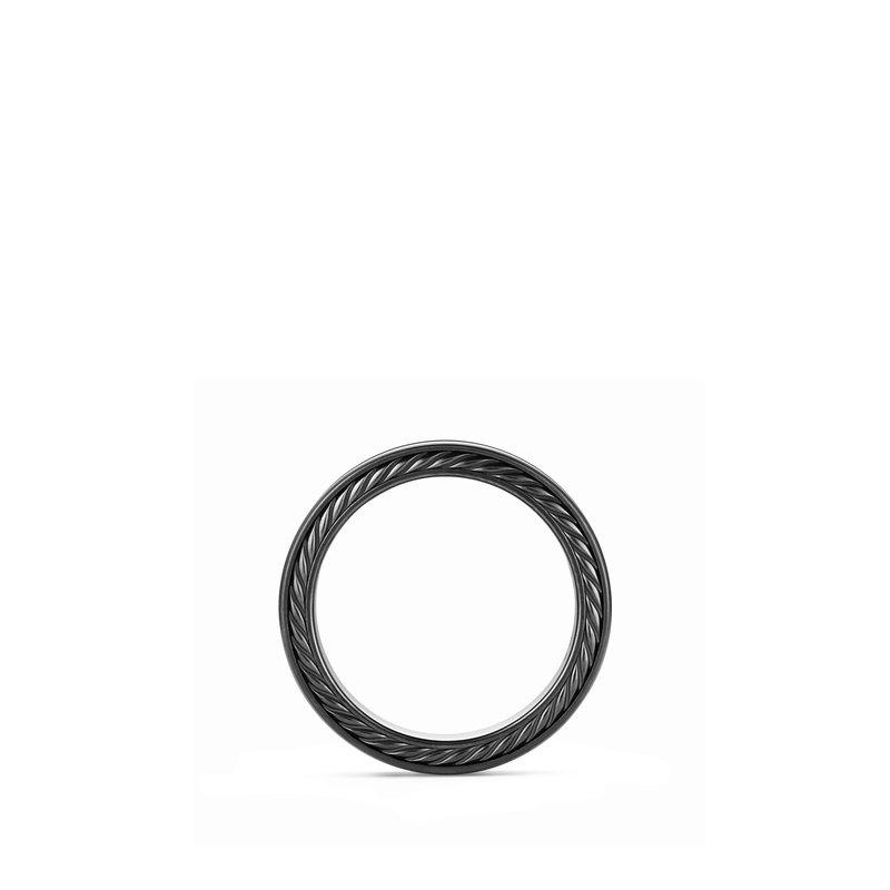 David Yurman Streamline® Two Row Band in Black Titanium with Black Diamonds