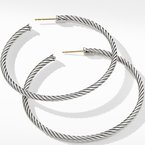 David Yurman Large Cable Hoop Earrings