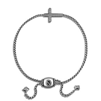 Pave Cross Bracelet with Diamonds