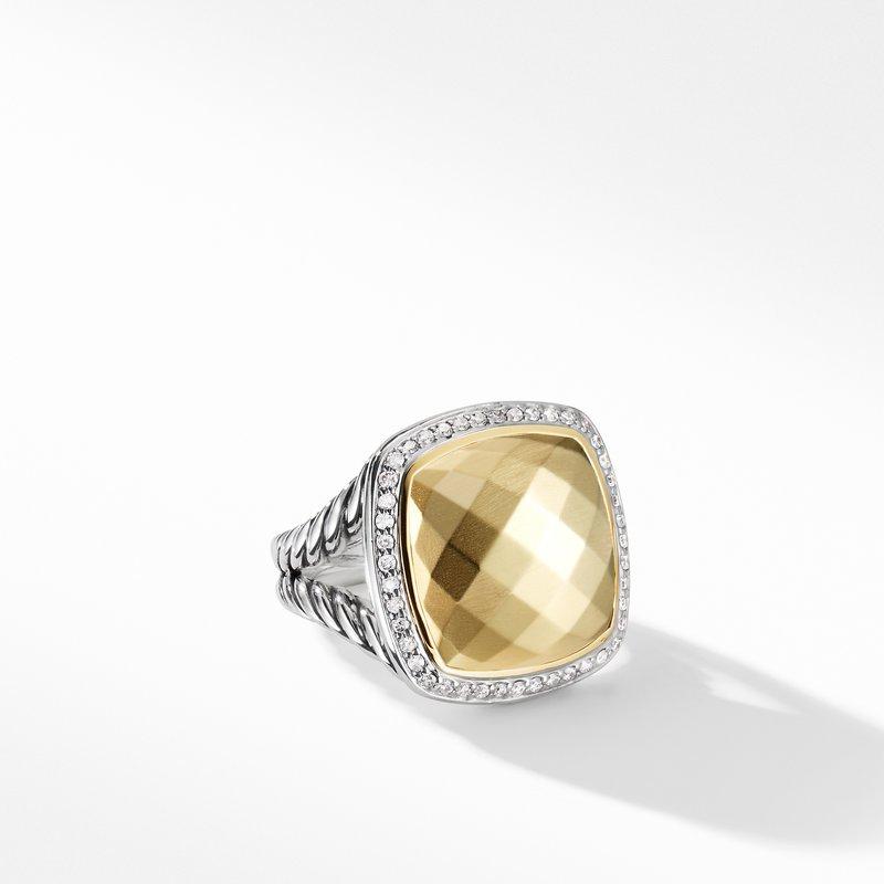 David Yurman Albion Ring with Diamonds and Gold