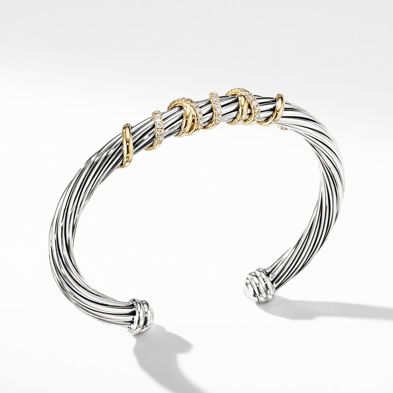 David Yurman Helena Center Station Bracelet with 18K Gold and Diamonds