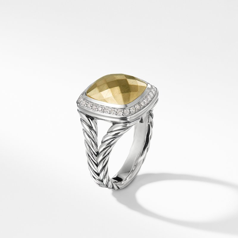 David Yurman Ring with Gold Dome and Diamonds with 18K Gold