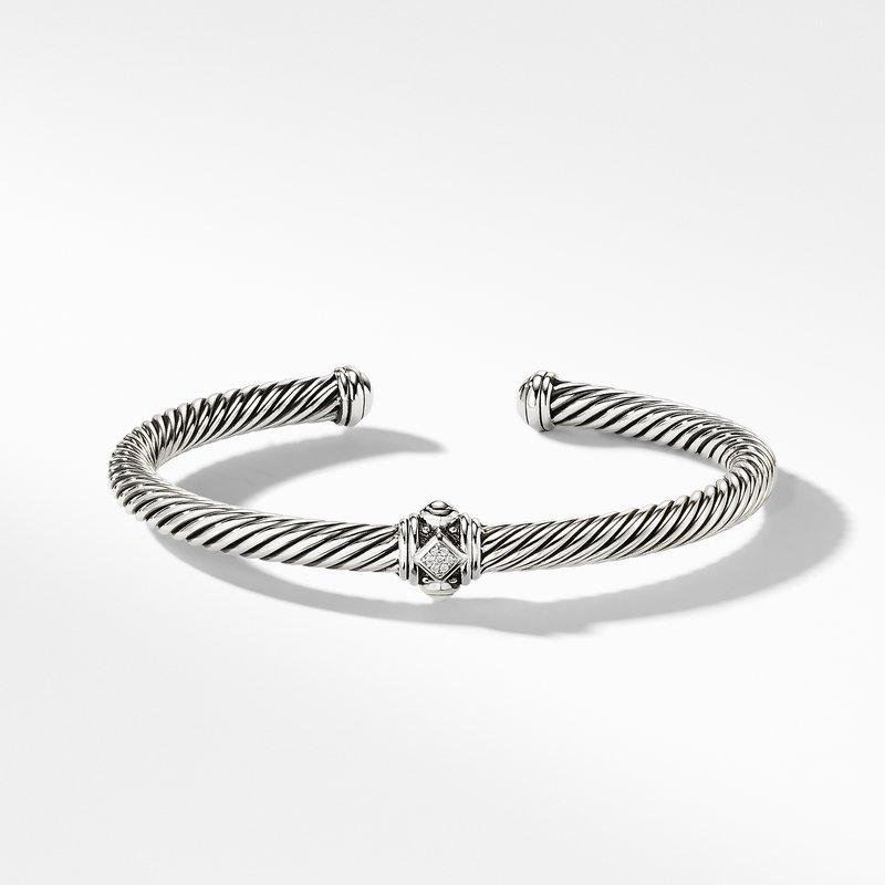 David Yurman Renaissance Bracelet with Diamonds in Silver, 5mm