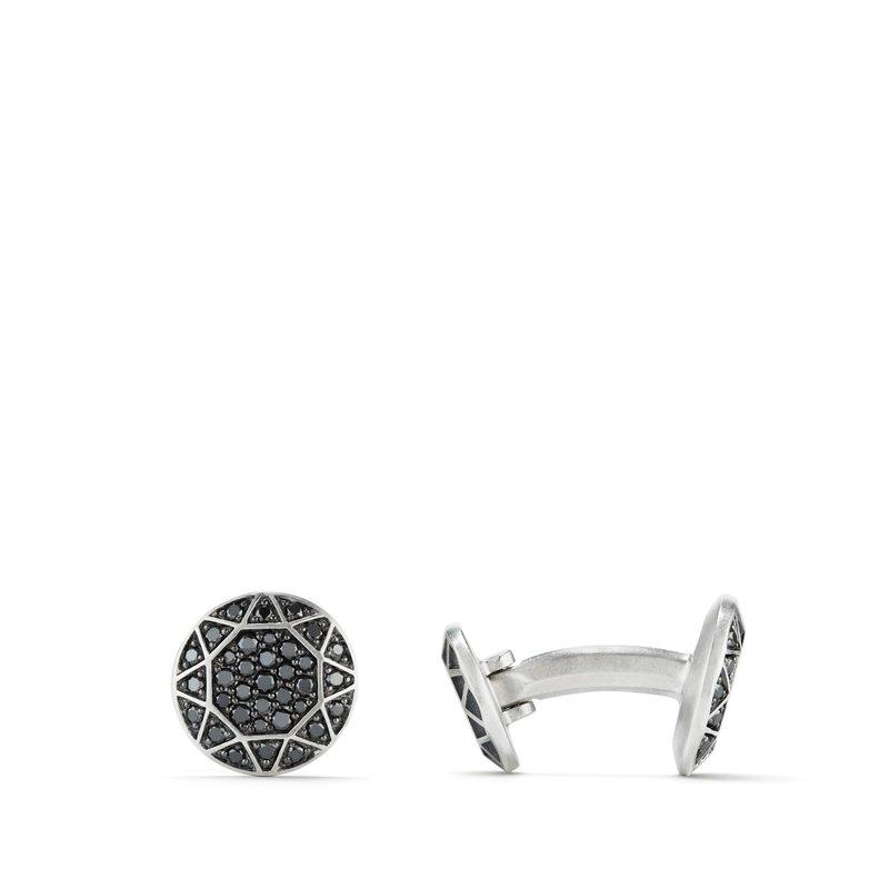 David Yurman Pavé Cufflinks with Black Diamonds