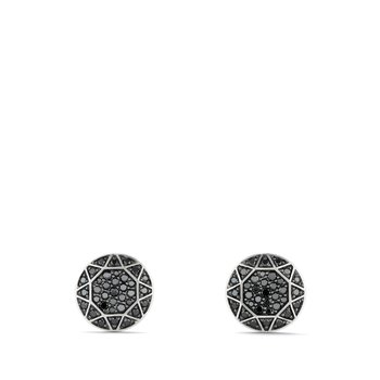 Pavé Cufflinks with Black Diamonds