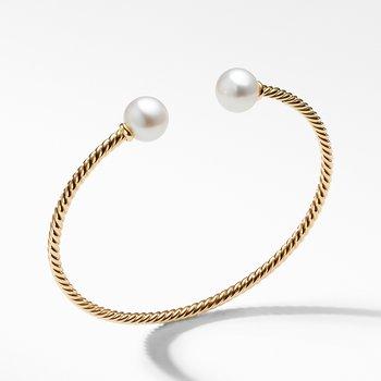 Solari Bead Bracelet with Pearl in 18K Gold