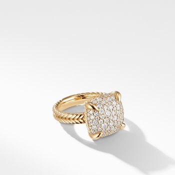 Chatelaine® Ring with Diamonds in 18K Yellow Gold