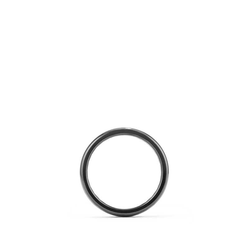 David Yurman DY Classic Band Ring in Black Titanium