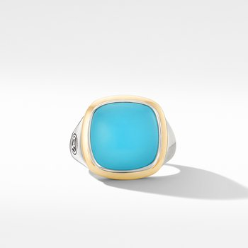 Albion® Ring with Reconstituted Turquoise and 18K Yellow Gold
