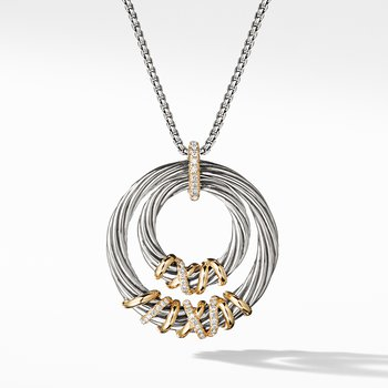 Helena Pendant Necklace with 18K Gold and Diamonds