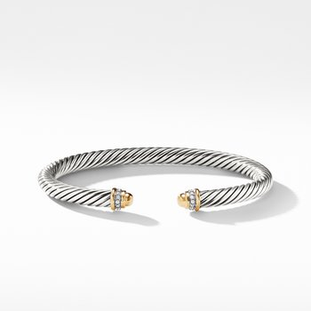 Cable Classics Collection® Bracelet with Diamonds and 18K Gold