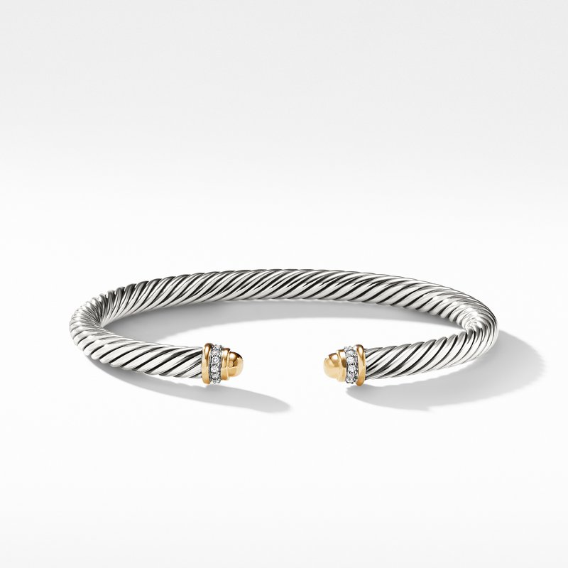 David Yurman Cable Classics Collection® Bracelet with Diamonds and 18K Gold