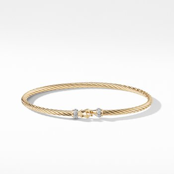 Cable Collectibles Buckle Bracelet in 18k Gold,
