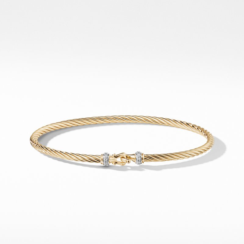 David Yurman Cable Collectibles Buckle Bracelet in 18k Gold,
