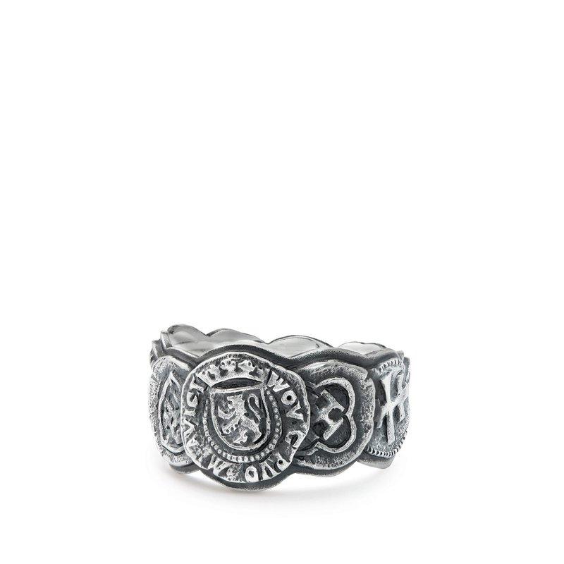 David Yurman Shipwreck Coin Band Ring
