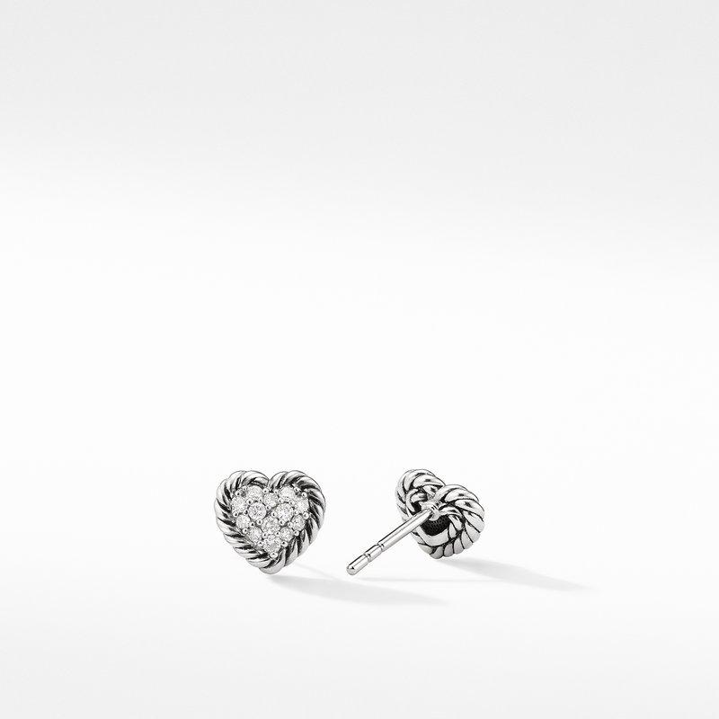David Yurman Heart Earrings with Diamonds