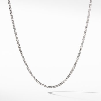 Small Box Chain Necklace with Gold