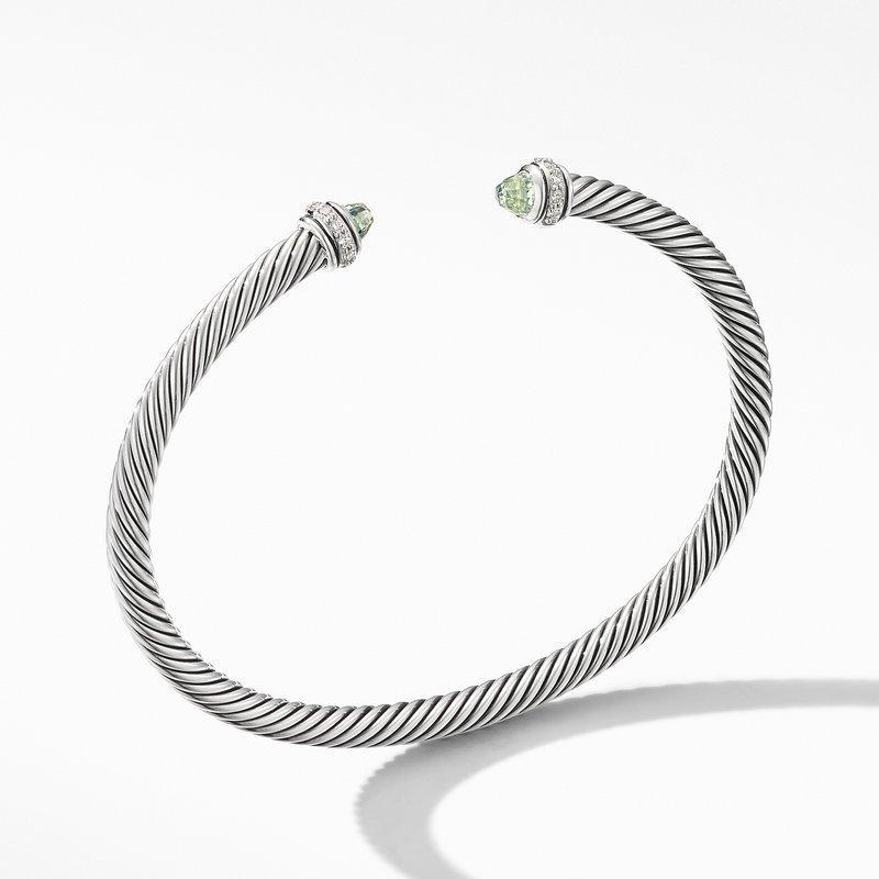 David Yurman Cable Classic Bracelet with Prasiolite and Diamonds