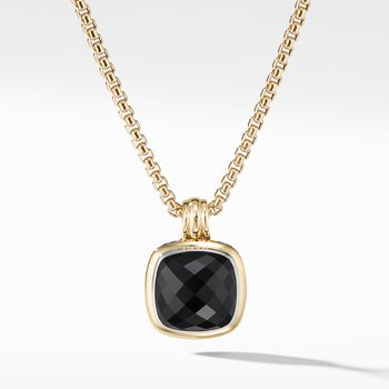 Albion® Pendant with Black Onyx and 18K Yellow Gold
