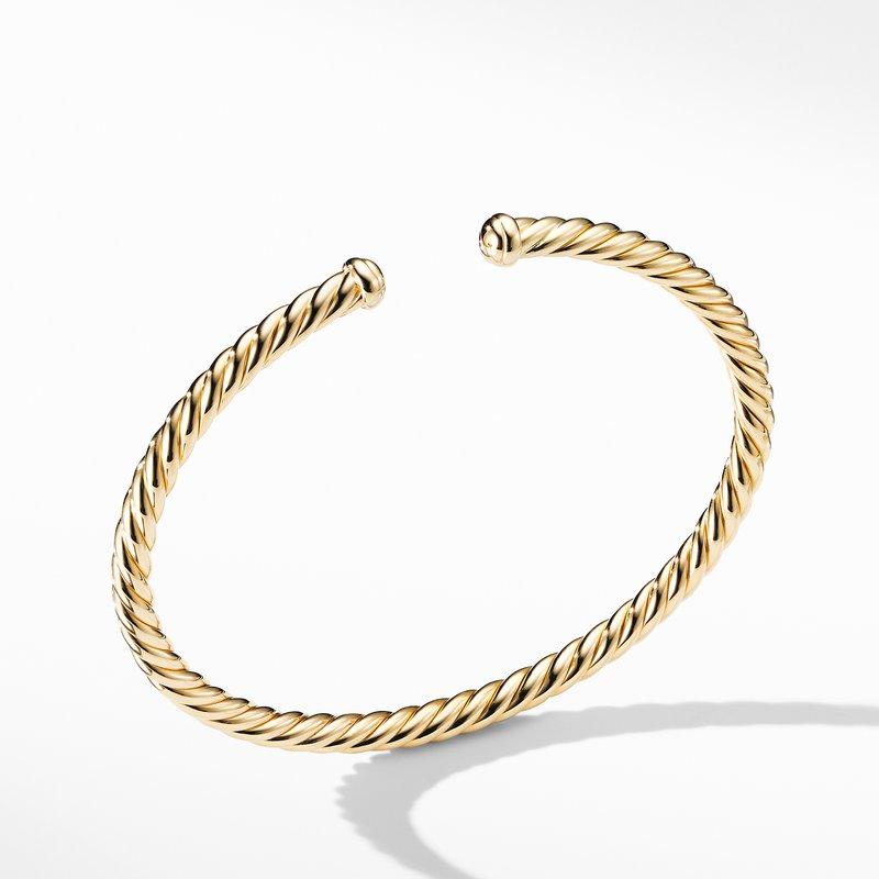 David Yurman Petite Precious Cable Bracelet in Gold