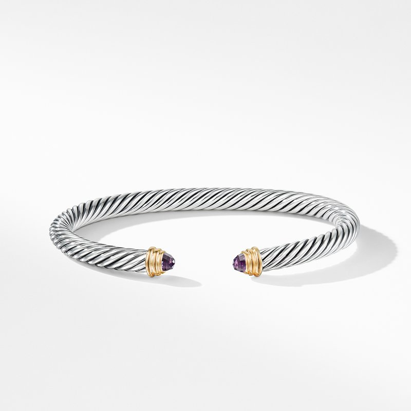 David Yurman Cable Classics Collection® Bracelet with Amethyst and 14K Gold