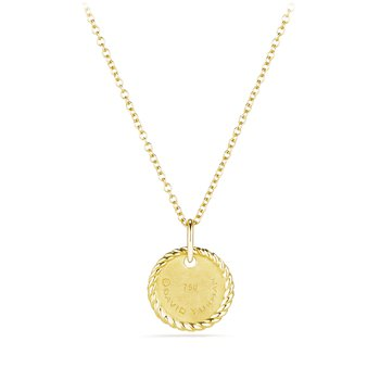 """""""J"""" Pendant with Diamonds in Gold on Chain"""
