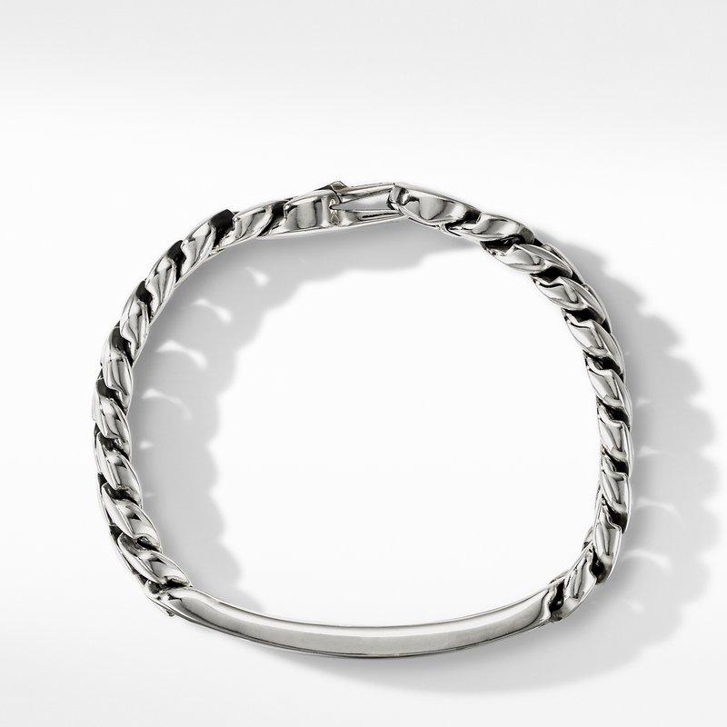 David Yurman Curb Chain ID Bracelet with Black Onyx