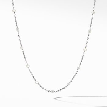 Cable Collectibles Bead and Chain Necklace with Pearls