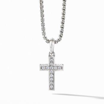 Cross Pendant with Pavé Diamonds